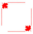 canadian flag corner border vector image vector image