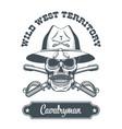 cavalryman skull logo vector image vector image