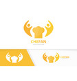chef hat and people logo combination vector image vector image