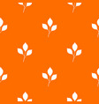 cherry leaves pattern seamless vector image vector image