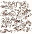 collection of decorative swirls for design vector image vector image