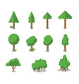 collection of trees can be used to vector image vector image