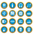 computer icons blue circle set vector image vector image