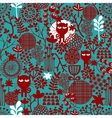Dark abstract floral seamless pattern vector image vector image