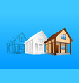 design of hause vector image vector image