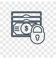 dollar concept linear icon isolated on vector image