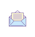 e-mail message to write and communication vector image vector image