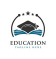 educational logo vector image vector image