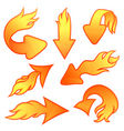 fire arrows vector image