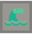flat shading style icon danger tsunami vector image