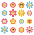 flower smiley faces vector image vector image