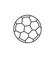 football ball outline icon soccer ball vector image