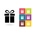 Gift icon or gift symbol vector image vector image