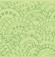 green hills pattern vector image