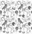 Hand drawn Travel seamless pattern for adult vector image