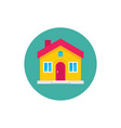 home house build - concept colored icon in flat vector image