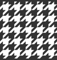 houndstooth seamless pattern vector image vector image
