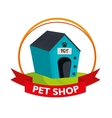 house dog pet shop vector image