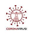 logo design for coronavirus vector image vector image