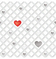 love heart seamless pattern valentine day holiday vector image vector image