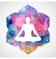 Man in the asana lotus position vector image