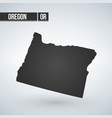 map oregon isolated black on white background vector image vector image
