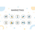 marketing trendy infographic template thin line