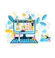 online service shopping in internet vector image vector image