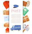 post office letters and parcels delivery service vector image vector image