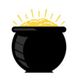 pot of gold icon vector image vector image