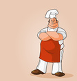 potrait of a chef clip art vector image