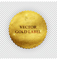 premium quality shiny golden label luxury badg vector image