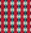 red rhombus seamless pattern with grunge effect vector image