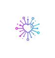 romantic share logo icon design vector image