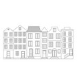 row of houses vector image vector image