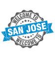 san jose round ribbon seal vector image vector image