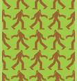 sasquatch pattern seamless bigfoot background vector image vector image