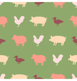 seamless background with domestic animals vector image