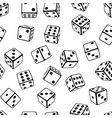 seamless dice background vector image