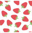 seamless pattern with cute strawberry vector image