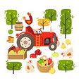 set images representing rural scene vector image vector image