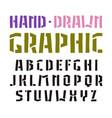stencil-plate sanserif font vector image vector image