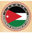 vintage label cards jordan flag vector image