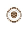 vintage wooden hop craft beer brewing brewery vector image vector image