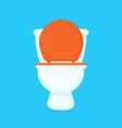 white toilet bowl flat cartoon vector image