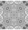linear black and white floral pattern vector image