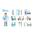 medical research treatment reception by doctors vector image