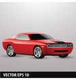 red american car vector image