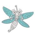 Dragon fly doodle vector image