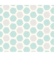 Seamless floral geometric pattern vector image